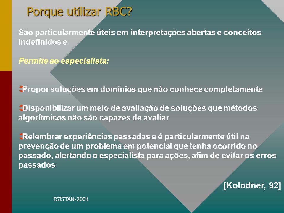 Porque utilizar RBC [Kolodner, 92]